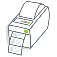 Badge printing visitor management system