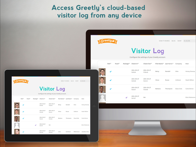Viewing a digital visitor logbook