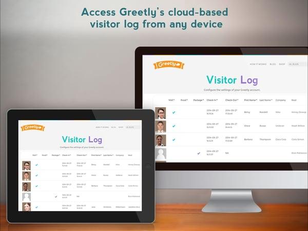 Digital visitor logbook