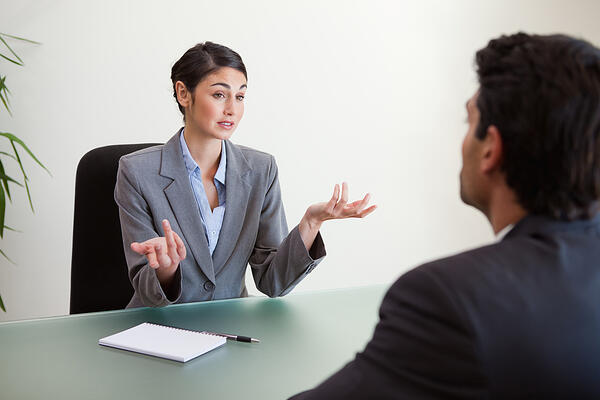 Businesswoman in a meeting