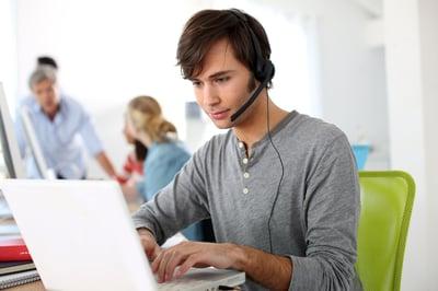 Office worker using an eSignature app