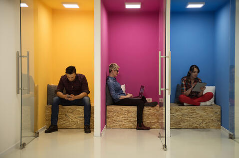 Employees getting more done in private workspaces