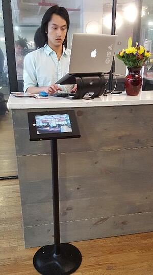 Visitor check-in apps at Bond Collective