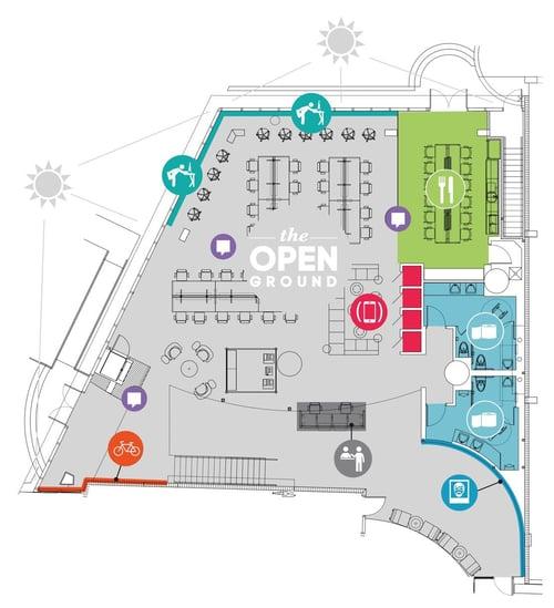 Coworking space management software floor plan