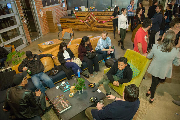 Networking event at a coworking space