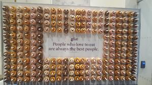 A wall of donuts greet GCUC attendees