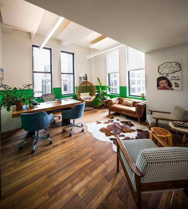 Pictures of consumer goods company Vita Coco's headquarters office design