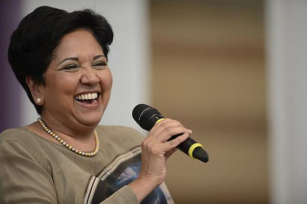 Greetly digital reception app features Indra Nooyi