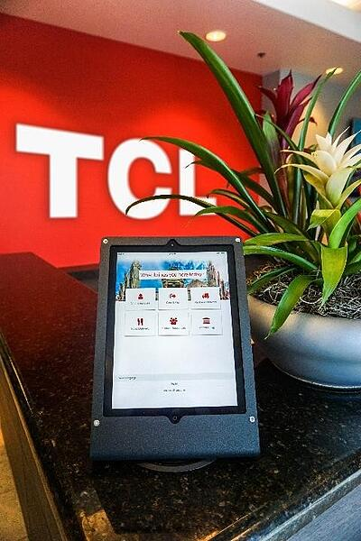Modern reception management software at TCL office