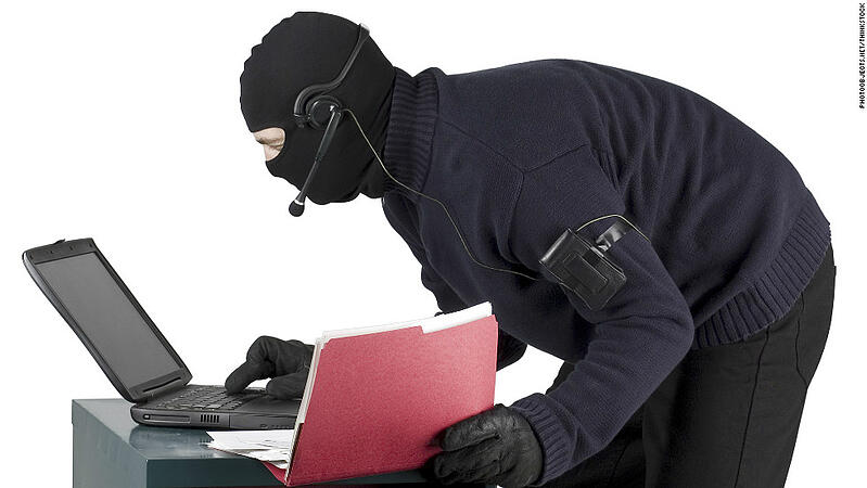 Visitor stealing office data