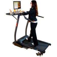 Lady working on treadmill desk