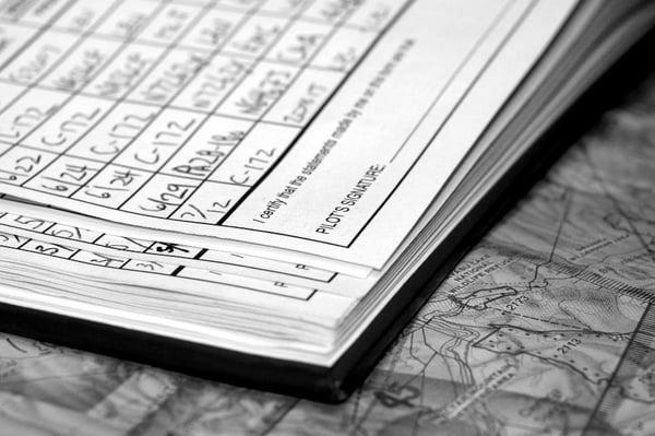 paper visitor log book