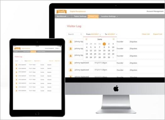 Greetly cloud-based digital visitor logbook