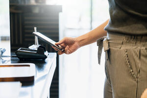 Staying healthy using a no-touch payment system