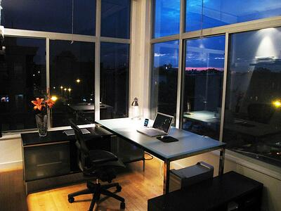 An organized office - both common areas and individual workstations - helps increase employee productivity