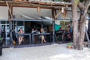 Beach front coworking in Thailand