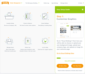 Highly customizable visitor management system