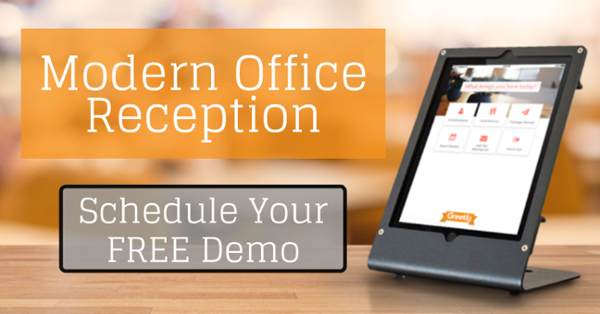 Modern office visitor check-in app demo