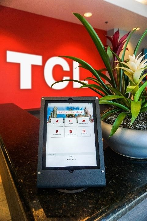 Greetly iPad receptionist and visitor registration app at TCL