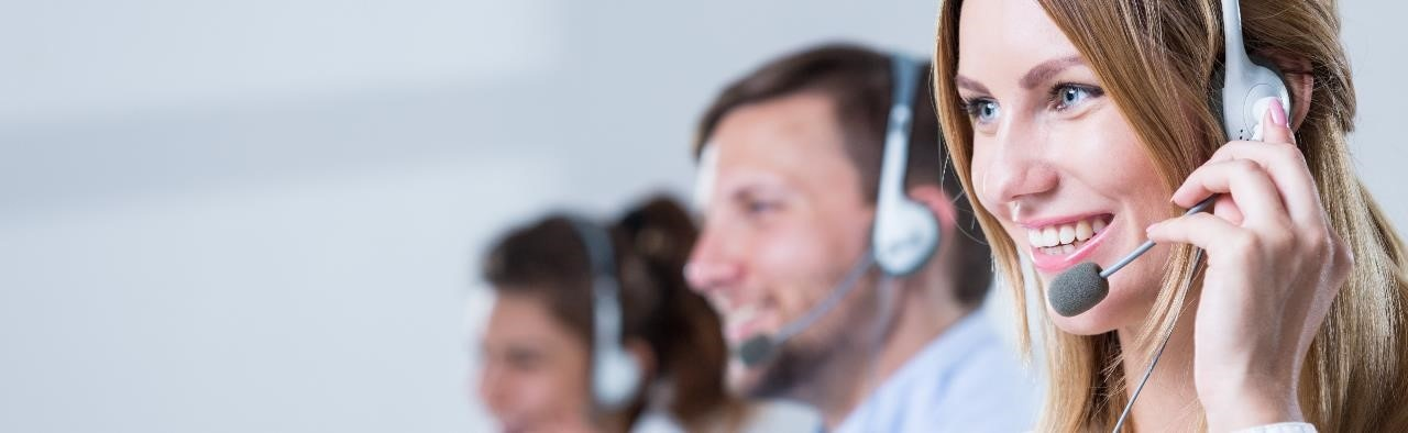 Virtual receptionists in a call center